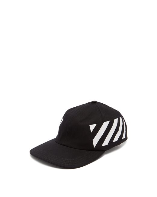 220b941e496 Off-White c o Virgil Abloh - Black And White Striped Baseball Cap for ...