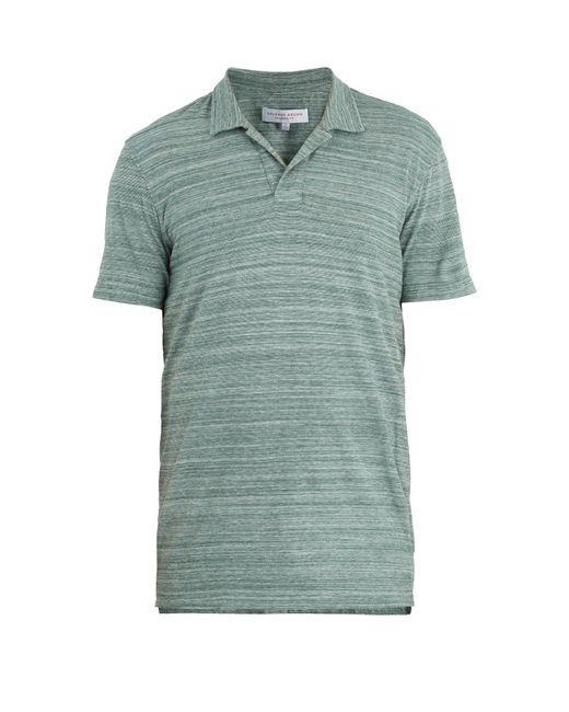 Orlebar Brown - Green Felix Cotton Jersey Polo Shirt for Men - Lyst