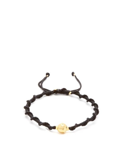Black Dakini | Multicolor Gold-vermeil And Cord Bracelet for Men | Lyst