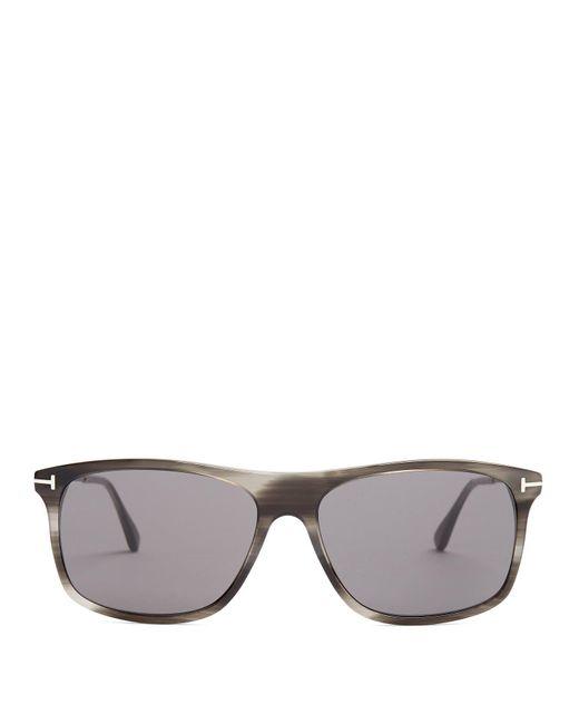 9071d56e60 Tom Ford - Gray Square Frame Sunglasses for Men - Lyst ...