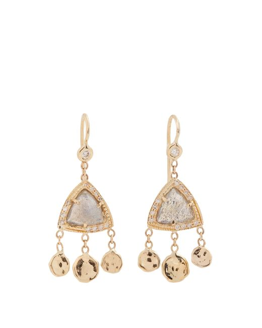 Jacquie Aiche - Metallic Diamond & Rose Gold Earrings - Lyst