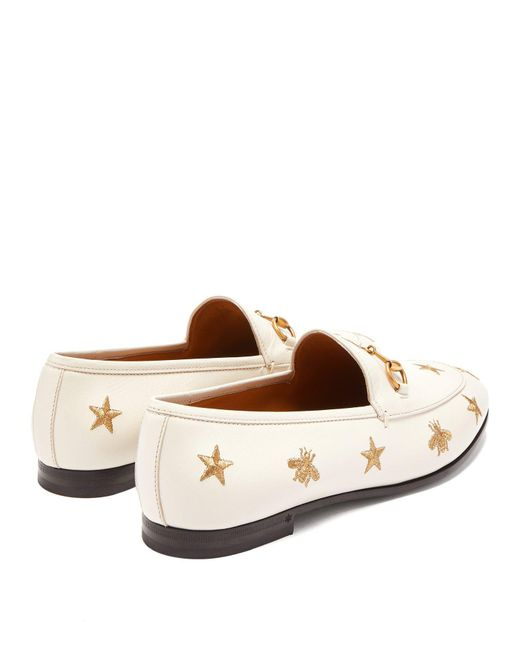 2b18b80b815 ... Gucci - Multicolor New Jordaan Embroidered Leather Loafers - Lyst ...