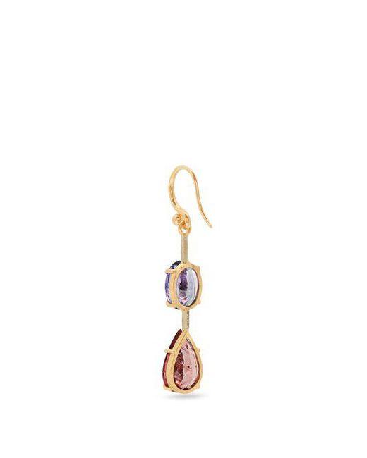Irene Neuwirth Tourmaline, tanzanite & rose-gold single earring