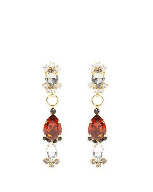 Marni - Red Resin Hoop Earrings - Lyst