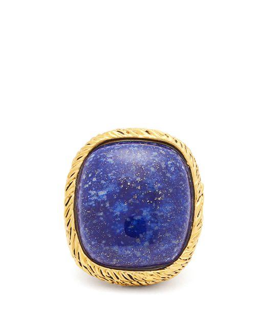 Aurelie Bidermann - Blue Miki Ring With Lapiz Lazuli In Metal - Lyst