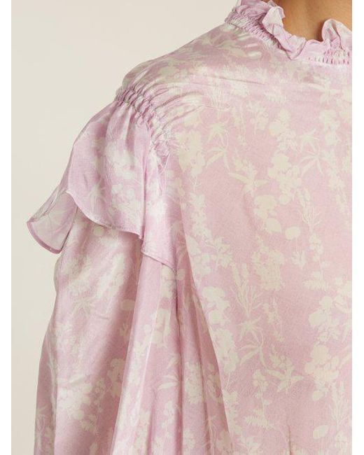 Sienna floral-print high-neck blouse Preen Cheap Price Wholesale Big Sale Cheap Price Discount Affordable Online Cheap Authentic Low Shipping Cheap Online zSLLrQVPRd