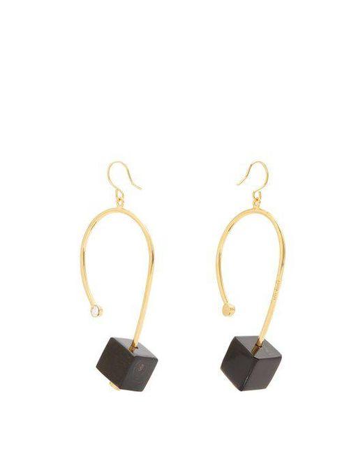 asymmetric cube earrings - Metallic Marni bEf0v3yiR