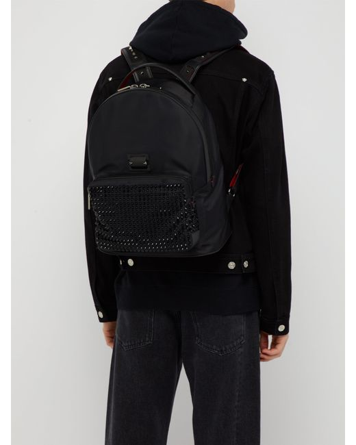 42d6316f5e5 Christian Louboutin Backloubi Spikes Nylon Backpack in Black for Men ...