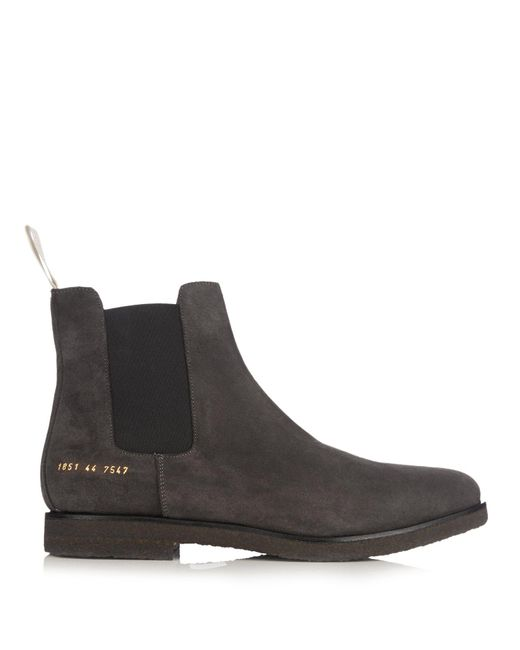 Common Projects - Multicolor Suede Chelsea Boots for Men - Lyst