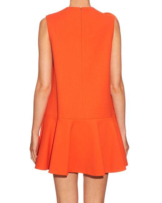 delpozo orange cottonblend crepe dress lyst