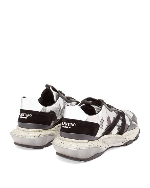 76bf1cc0d ... Valentino - Gray Bounce Raised Sole Low Top Leather Trainers for Men -  Lyst ...