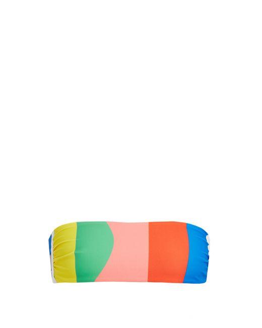 Mara Hoffman | Multicolor Beach Ball-print Bandeau Bikini Top | Lyst