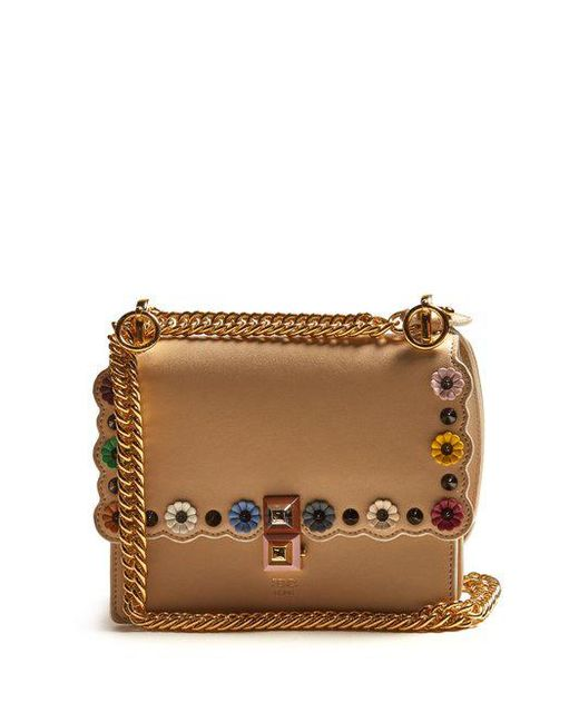 Kan I leather cross-body bag Fendi 4TNMXz8