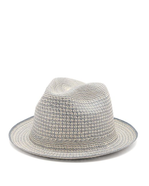 Guanabana - Multicolor Geometric Straw Panama Hat for Men - Lyst