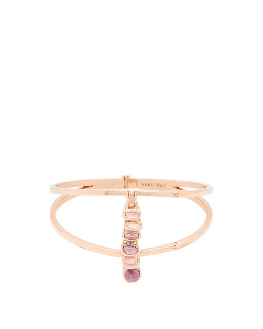 Marie Mas | Amethyst, Topaz & Pink-gold Bangle | Lyst