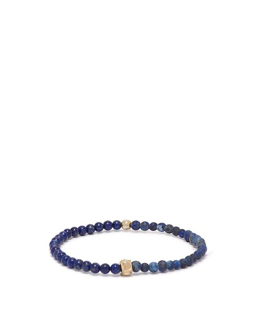 Luis Morais - Blue Skull-charm Beaded Bracelet for Men - Lyst