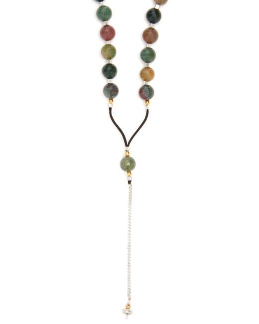 Black Dakini - Green Collier en agate mousse et corde for Men - Lyst