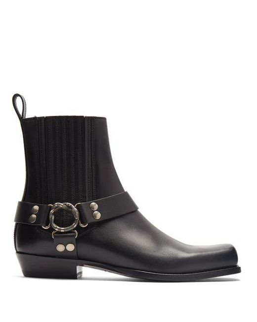 Gucci - Black Stanley Leather Ankle Boots for Men - Lyst ...
