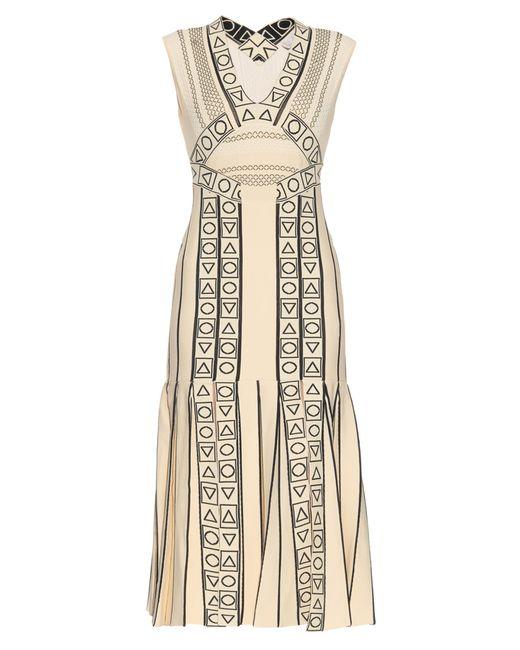 Peter Pilotto   Natural Indix V-neck Jersey Dress   Lyst