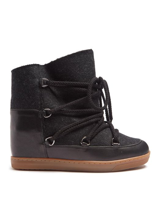 isabel marant nowles shearling lined apr s ski boots in. Black Bedroom Furniture Sets. Home Design Ideas
