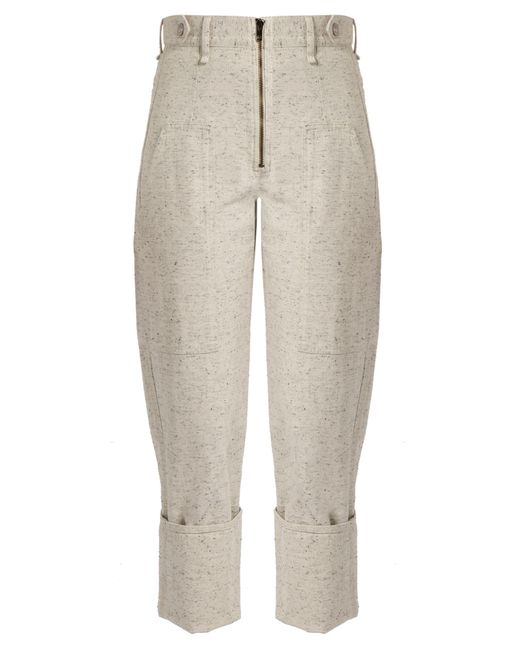 Isabel Marant | Gray Eugenie High-rise Peg-leg Denim Trousers | Lyst