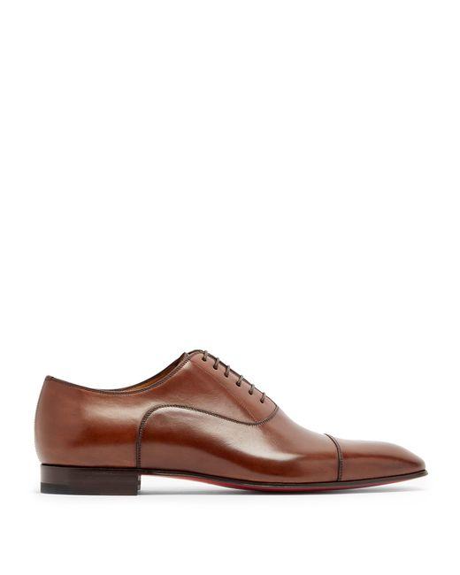 Chaussures oxford en cuir Greggo Christian Louboutin pour homme en coloris Brown