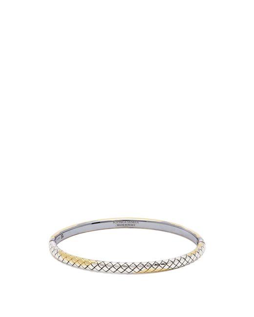 Bottega Veneta - Metallic Intrecciato Engraved Silver Bracelet - Lyst