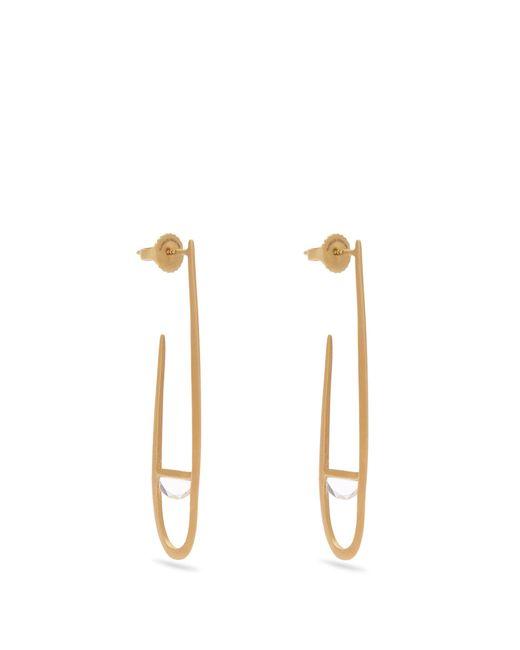 Monique Péan | Metallic Sapphire & Yellow-gold Earrings | Lyst