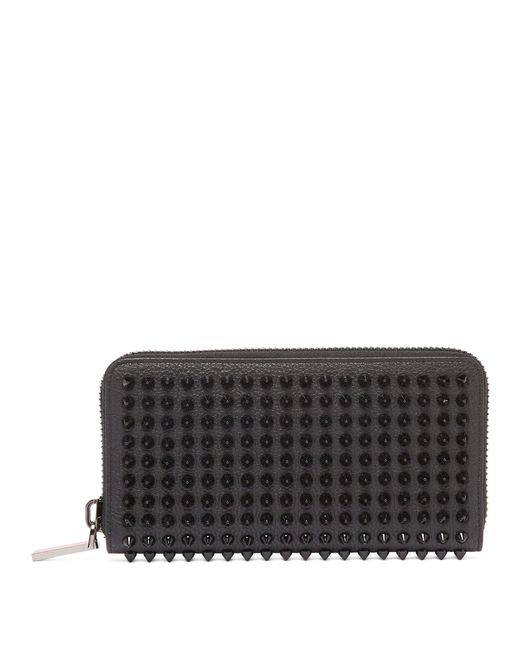 Zip Black Stud Leather Christian Wallet for Around Louboutin Men Lyst Spike fq7ECgx