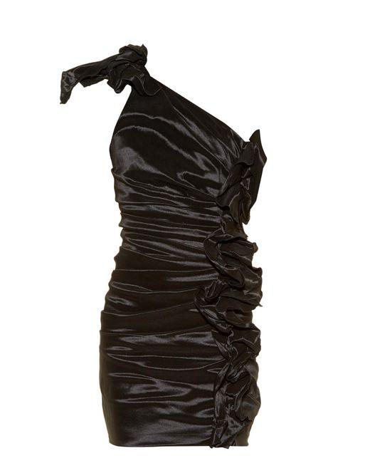 Isabel Marant | Black Nyree One-shoulder Ruched Mini Dress | Lyst
