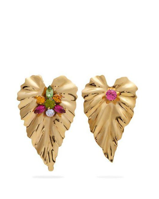 Rodarte - Metallic Gold-plated Mismatch Earrings - Lyst