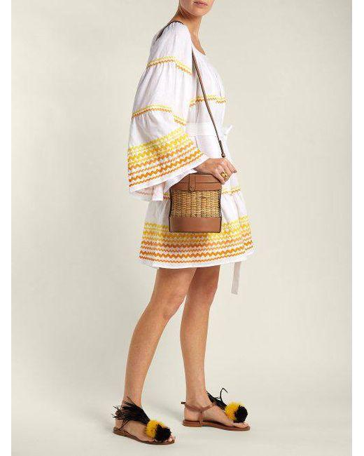 Peasant flared-sleeve linen dress Lisa Marie Fernandez xHhAEoJIh1