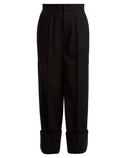 Joseph | Black Brem Wide-leg Wool-twill Trousers | Lyst