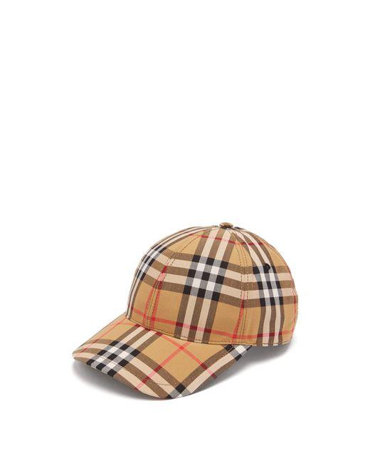 Burberry - Multicolor Checkered Cap for Men - Lyst