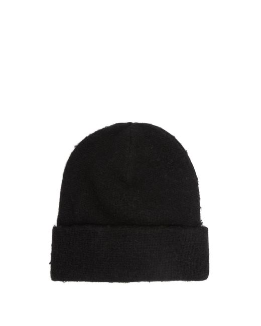 Acne - Black Pilled Wool Blend Beanie Hat for Men - Lyst