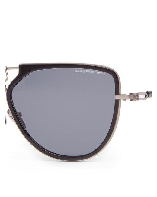 D-frame aviator acetate and metal sunglasses CALVIN KLEIN 205W39NYC