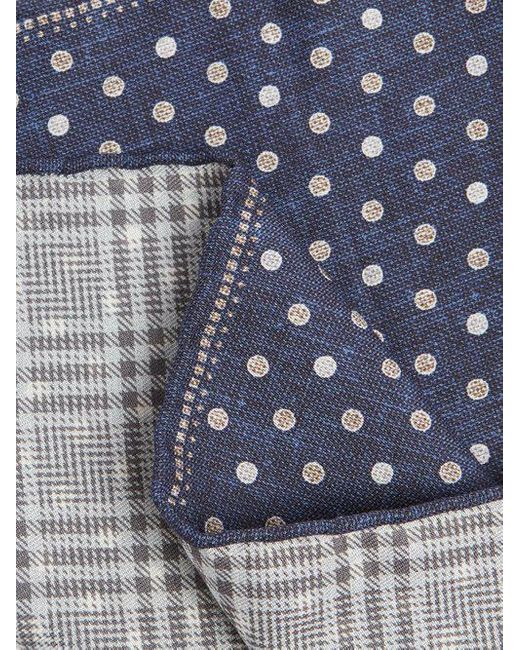 Polka dot-print silk-blend pocket square Brunello Cucinelli v9tdUJj