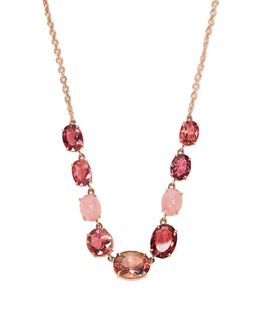 Irene Neuwirth - Pink Opal, Tourmaline & Rose-gold Necklace - Lyst