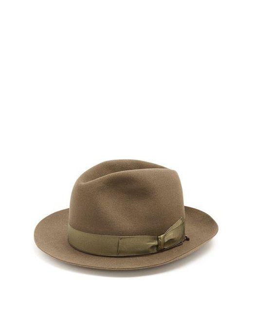 d802ce8ce76 Borsalino - Brown Alessandria Medium Brim Felt Hat for Men - Lyst ...