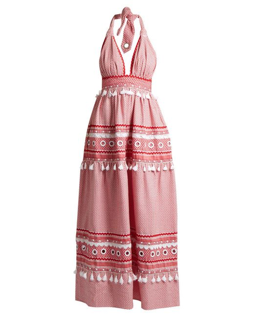 Dodo Bar Or - Multicolor David Halterneck Cotton Maxi Dress - Lyst