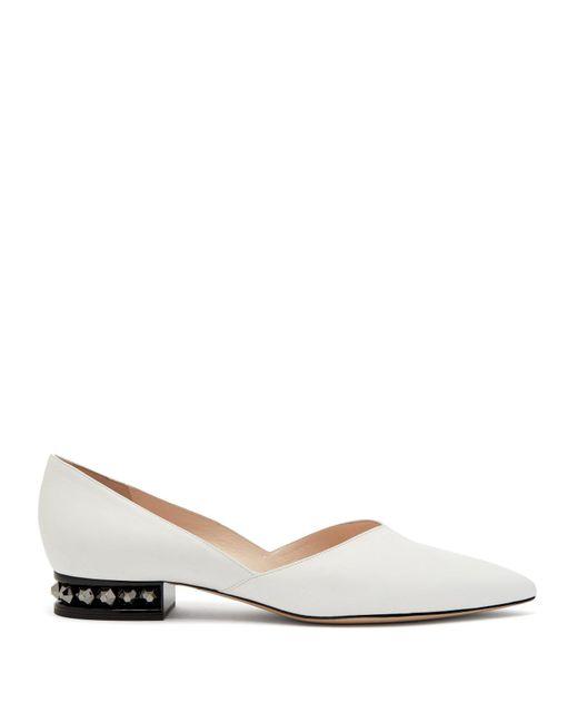 Nicholas Kirkwood - White Suzi Leather Ballet Flats - Lyst