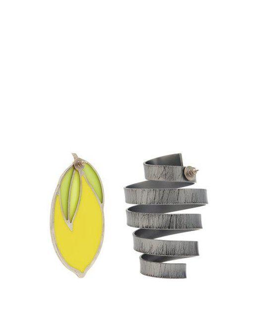 Le Citron lemon and spiral earrings Jacquemus nvw1xkBx4
