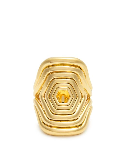 Fernando Jorge - Metallic Yellow Gold Cushioned Lines Ring - Lyst