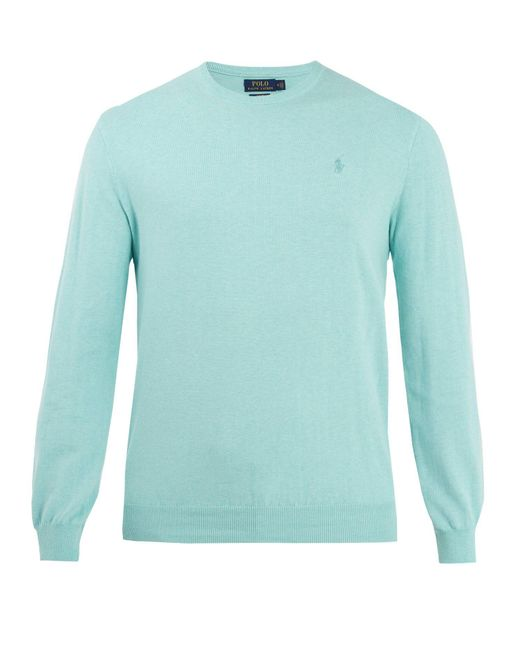 Polo Ralph Lauren - Green Men's Crew Neck Pima Knitted Jumper for Men - Lyst