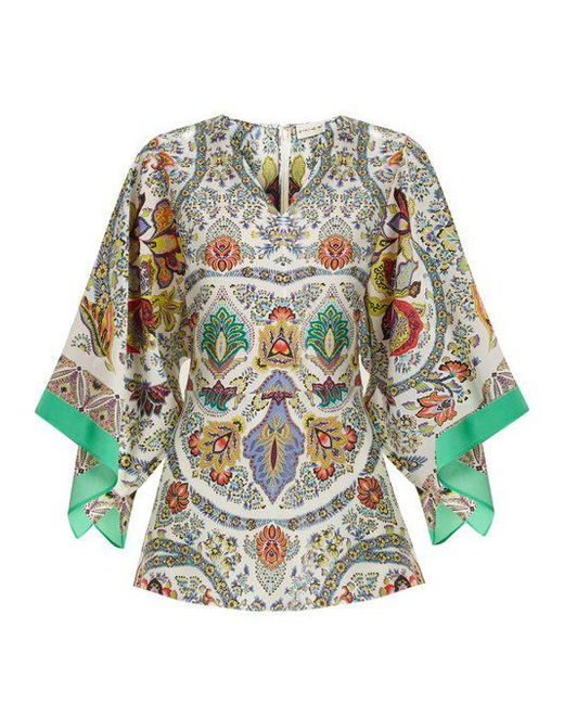 Chiquitisi floral-print silk crepe de Chine top Etro Best Choice Buy Cheap Good Selling Discount Visit New Free Shipping 2018 Newest frWSP0X