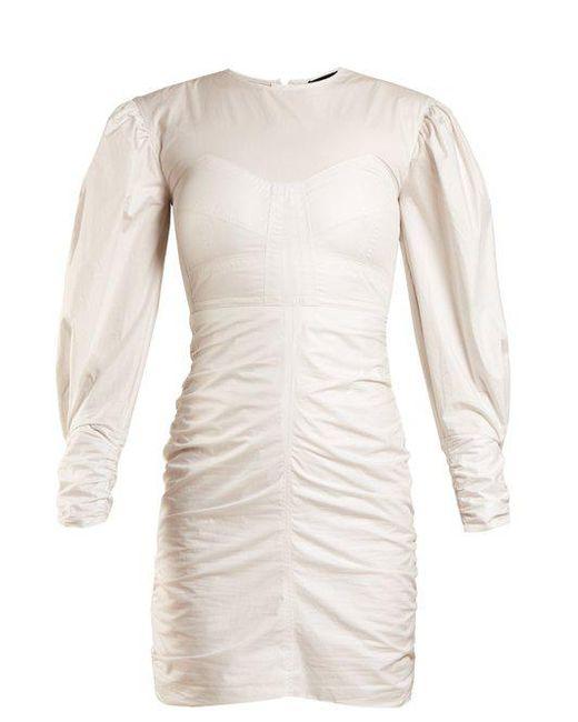 May puff-sleeved gathered dress Isabel Marant wjpWJg