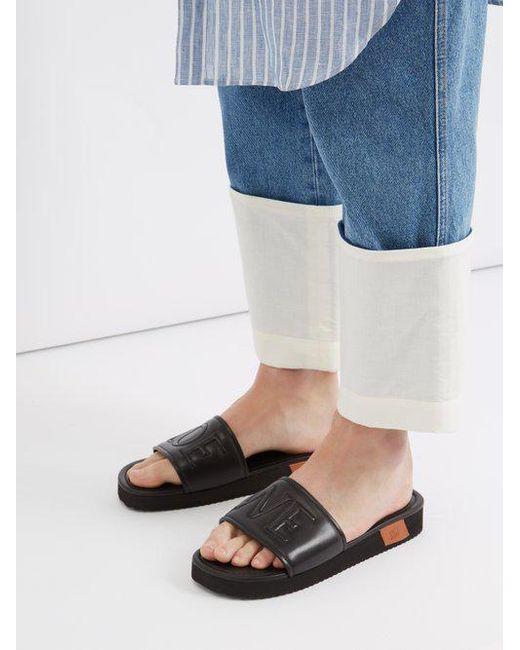 Loewe Leather Slides upyHgMPf