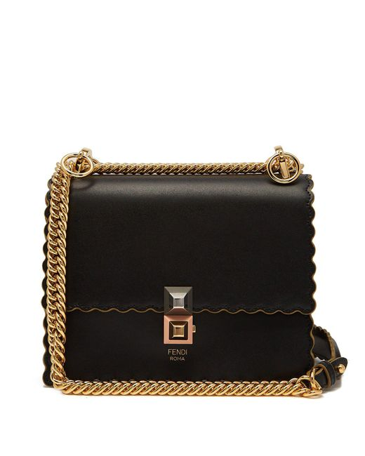 Fendi - Black Kan I Small Leather Cross-body Bag - Lyst