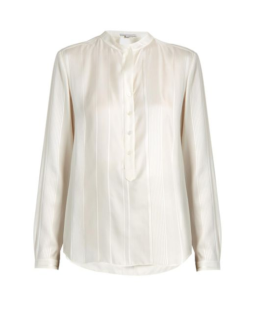 Stella McCartney - Multicolor Eva Twisted-stripe Silk Shirt - Lyst