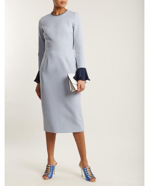 Izumi colour-block stretch-crepe midi dress Roksanda Ilincic jk03AUbT